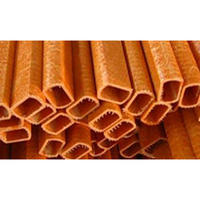 Fiberglass Rectangular Tube High Strength Pultruded  Fiberglass  Tube With Pad