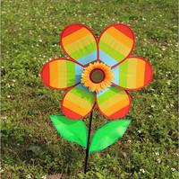 Windmill Toy Colorful Wind Spinner Kids Toy Yard Garden Decoration 30CM